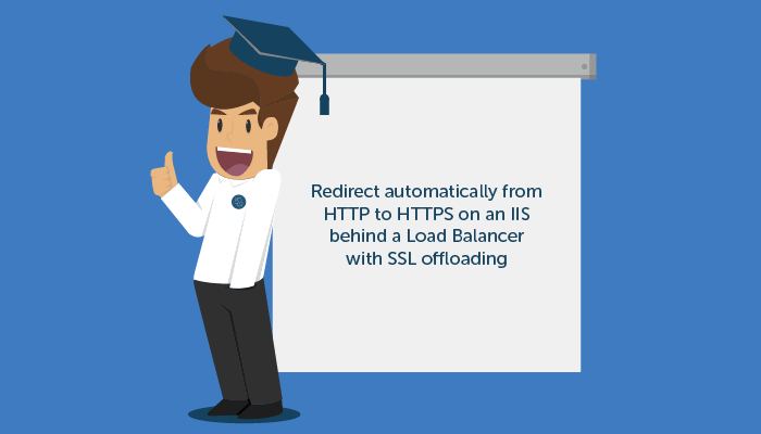 tutorial - how to redirect automatically from HTTP to HTTPS on an IIS behind a Load Balancer with SSL offloading